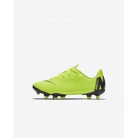 N1820 รองเท้าสตั๊ดเด็ก รองเท้าฟุตบอลเด็ก Nike Jr. MercurialX Vapor XII Academy MG-Volt/Black