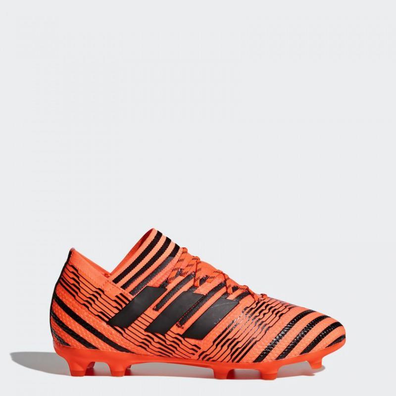 A0238 รองเท้าฟุตบอล รองเท้าสตั๊ดเด็ก ADIDAS NEMEZIZ 17.1 FG Jr. - Solar Orange