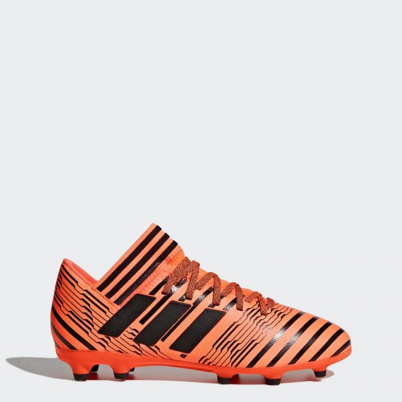 A0239 รองเท้าฟุตบอล รองเท้าสตั๊ดเด็ก ADIDAS NEMEZIZ 17.3 FG Jr. - Solar Orange