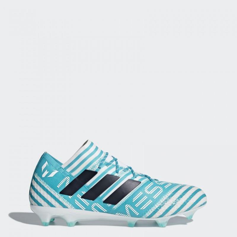 A0253 รองเท้าฟุตบอล รองเท้าสตั๊ด ADIDAS Nemeziz MESSI17.1 FG - White / Legend Ink