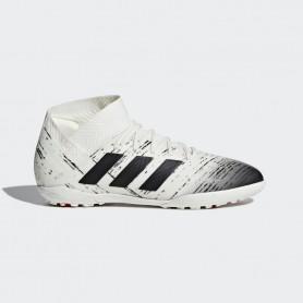 A2161 รองเท้าฟุตบอล100 ปุ่มเด็ก สนามหญ้าเทียม ADIDAS Nemeziz Tango 18.3 JR. TF-Off White/Core Black/Active Red