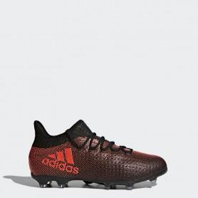 A0265 รองเท้าฟุตบอล รองเท้าสตั๊ดเด็ก ADIDAS X 17.1 FG Jr. - Core Black / Infrared