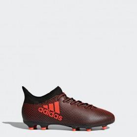 A0266 รองเท้าฟุตบอล รองเท้าสตั๊ดเด็ก ADIDAS X 17.3 FG Jr. - Core Black / Infrared