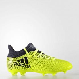 A0267 รองเท้าฟุตบอล รองเท้าสตั๊ดเด็ก ADIDAS X 17.1 FG Jr. - Solar Yellow