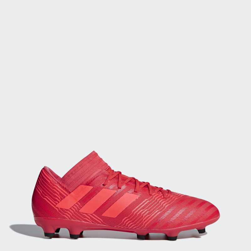 A0314 รองเท้าฟุตบอล รองเท้าสตั๊ด ADIDAS Nemeziz 17.3 FG -Multicolor/Red