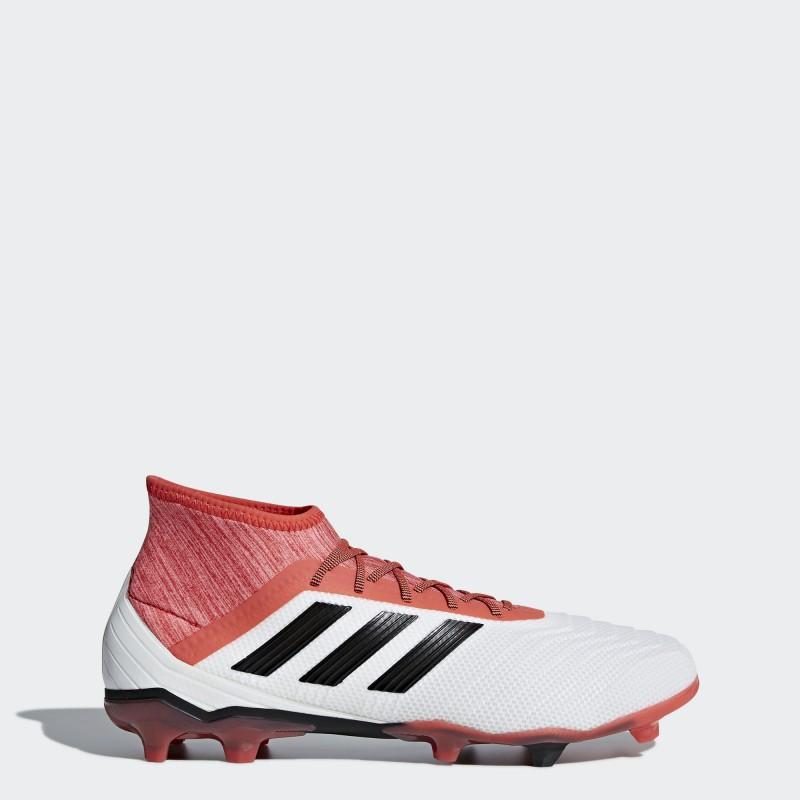 A0320 รองเท้าฟุตบอล รองเท้าสตั๊ด ADIDAS Predator 18.2 FG -White/Black/Multicolor