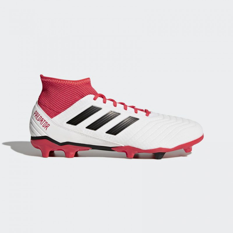 A0321 รองเท้าฟุตบอล รองเท้าสตั๊ด ADIDAS Predator 18.3 FG -White/Core Black/Real Coral