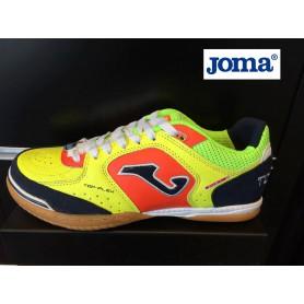 J2587 รองเท้าฟุตซอล Joma TOP FLEX 816 FLUORESCENT-NAVY BLUE