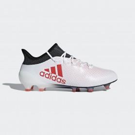 A0340 รองเท้าฟุตบอล รองเท้าสตั๊ด ADIDAS X 17.1 FG -White/Real Coral/Core Black