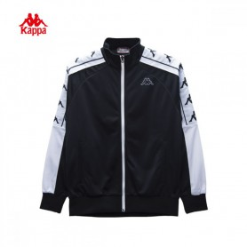 K2606 เสื้อแจ๊คเก็ต Kappa 222BIG BANDA JACKET-Black