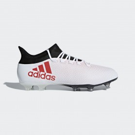 A0341 รองเท้าฟุตบอล รองเท้าสตั๊ด ADIDAS X 17.2 FG -White/Real Coral/Core Black