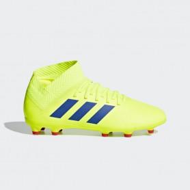 A2623 รองเท้าฟุตบอล รองเท้าสตั๊ดเด็ก ADIDAS Nemeziz 18.3 JR. FG -Solar Yellow / Football Blue / Active Red