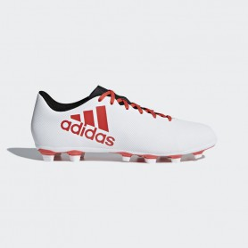 A0343 รองเท้าฟุตบอล รองเท้าสตั๊ด ADIDAS X 17.4 FG -White/Real Coral/Core Black