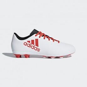 A0334 รองเท้าฟุตบอล รองเท้าสตั๊ดเด็ก ADIDAS X 17.4 JR. FxG -White / Black