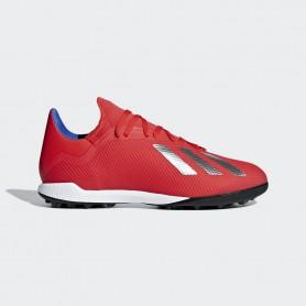 A2639 รองเท้าฟุตบอล 100ปุ่ม สนามหญ้าเทียม ADIDAS X Tango 18.3 TF -active red/silver met./bold blue