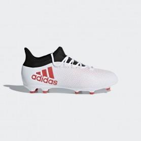 A0344 รองเท้าฟุตบอล รองเท้าสตั๊ดเด็ก ADIDAS X 17.1 JR. FG -White / Black