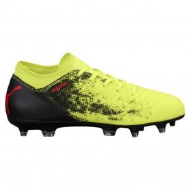 P0358 รองเท้าฟุตบอลเด็ก รองเท้าสตั๊ดเด็ก Puma FUTURE 18.4 FG/AG-Yellow/Red
