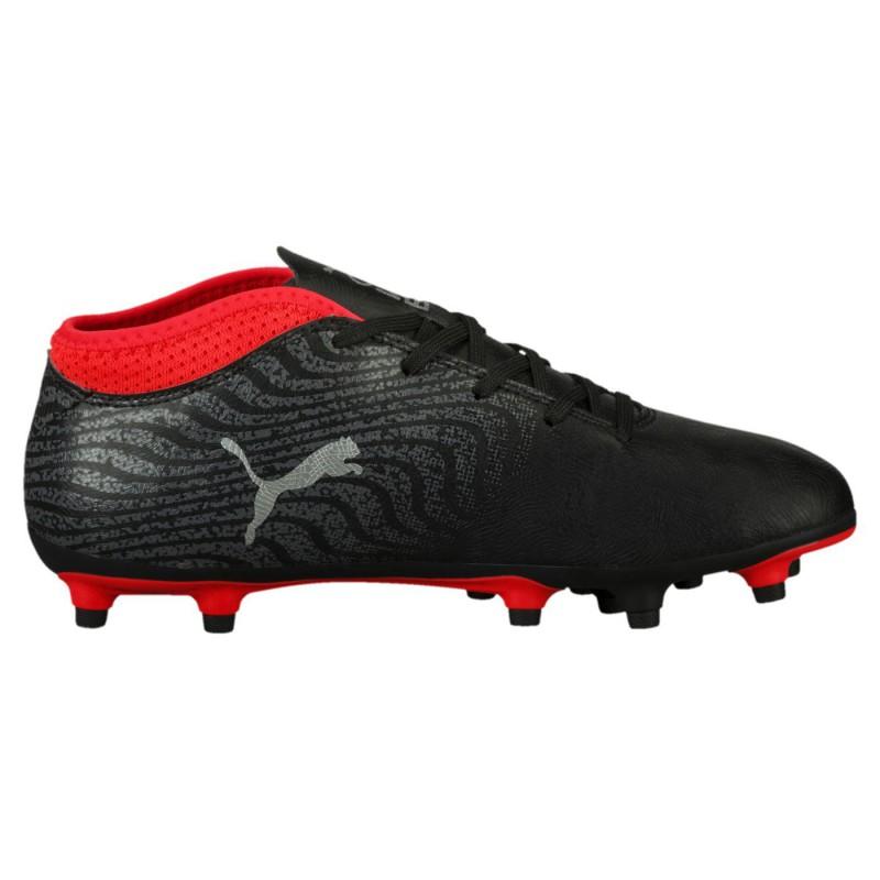 P0359 รองเท้าฟุตบอลเด็ก รองเท้าสตั๊ดเด็ก Puma PUMA ONE 18.4 FG -Black/Silver
