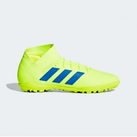 A2774 รองเท้าฟุตบอล 100ปุ่ม สนามหญ้าเทียม ADIDAS Nemeziz Tango 18.3 TF-Solar Yellow/Football Blue