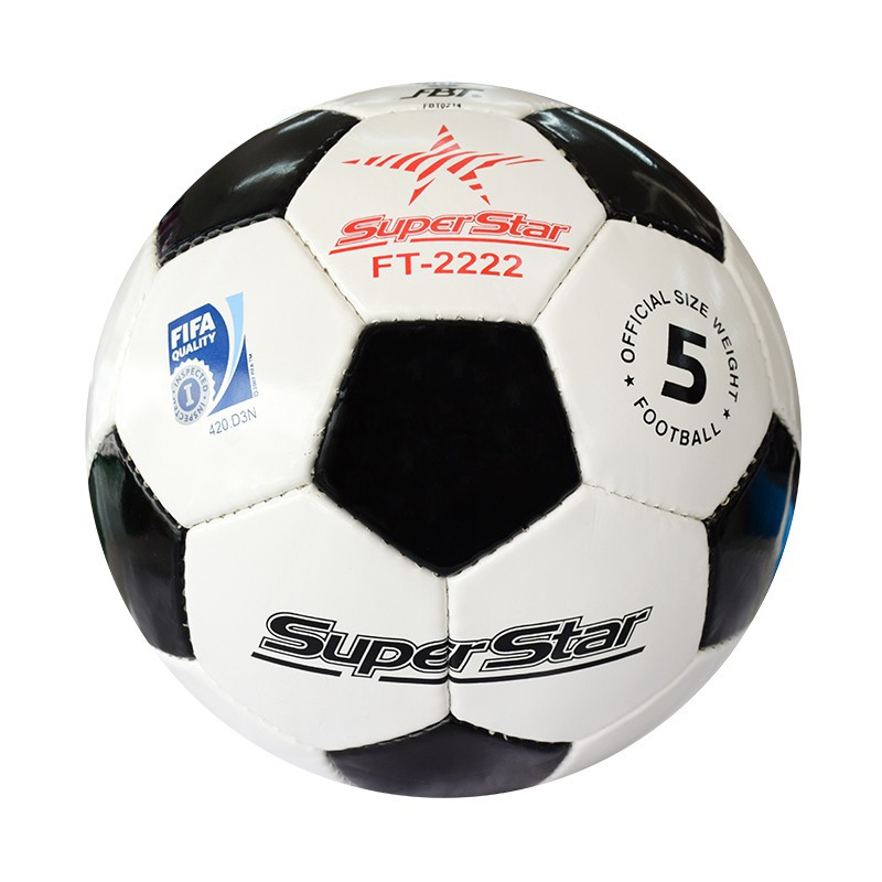 F0080 ลูกฟุตบอลหนังเย็บ ไฟว์สตาร์ No.9500