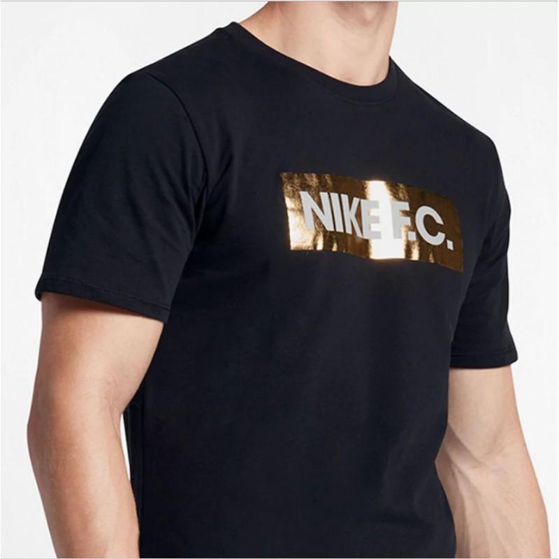 N0365 เสื้อยืดแฟชั่น NIKE F. C. T shirt - Foil Black Gold