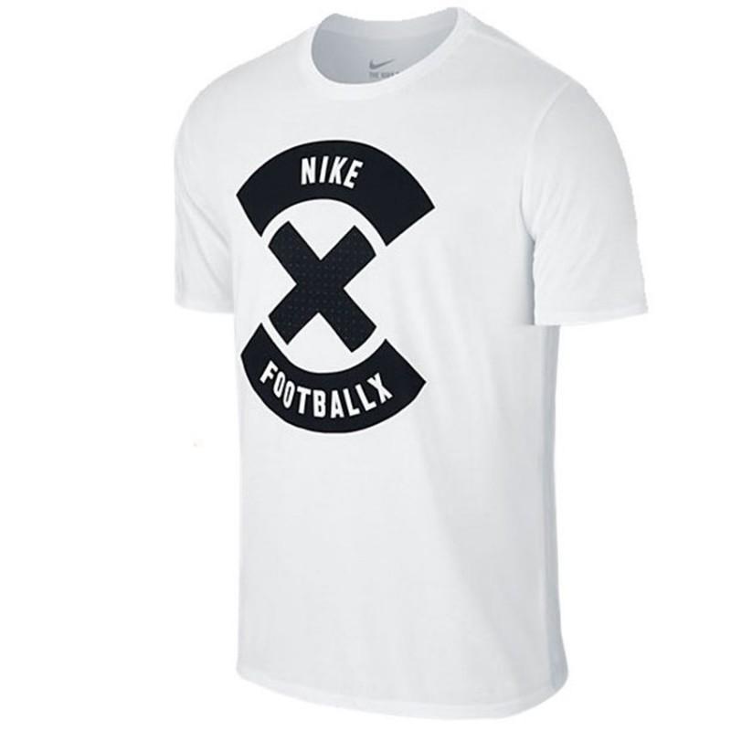 N0366 เสื้อยืดแฟชั่น NIKE T shirt DRI-FIT FOOTBALL X -white