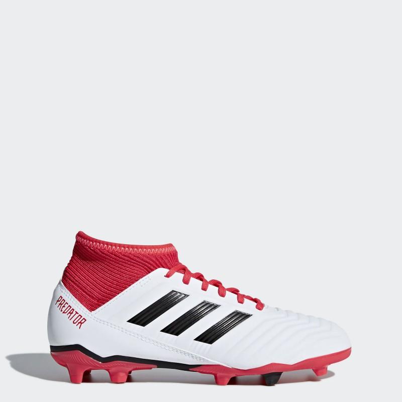 A0369 รองเท้าฟุตบอล รองเท้าสตั๊ดเด็ก ADIDAS Predator 18.3 JR. FG -White/Black/Multicolor