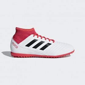 A0370 รองเท้าฟุตบอล100 ปุ่มเด็ก สนามหญ้าเทียม ADIDAS Predator 18.3 JR. TF -White/Black/Multicolor