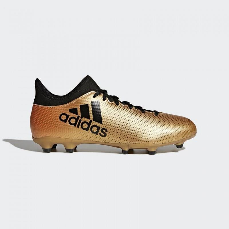 A0038 รองเท้าฟุตบอล รองเท้าสตั๊ด ADIDAS X 17.3 FG -Gold-Metallic