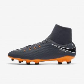 N0376 รองเท้าสตั๊ด รองเท้าฟุตบอล Hypervenom Phantom III Academy Dynamic Fit FG - Grey/White/Total Orange