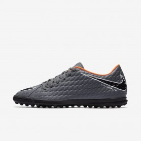 N0378 รองเท้าฟุตบอล 100ปุ่ม รองเท้าสนามหญ้าเทียม Hypervenom Phantom III Club TF Artificial - Grey/White/Total Orange