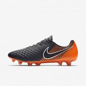 N0383 รองเท้าสตั๊ด รองเท้าฟุตบอล NIKE Magista Obra II Elite FG -Dark Grey/Total Orange/White/Black