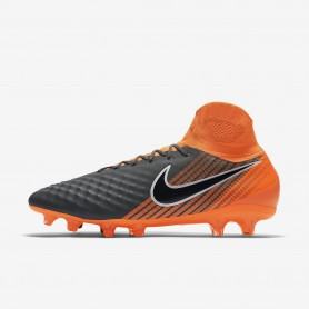 N0384 รองเท้าสตั๊ด รองเท้าฟุตบอล NIKE Magista Obra II Pro Dynamic Fit FG -Dark Grey/Total Orange/White/Black