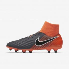 N0385 รองเท้าสตั๊ด รองเท้าฟุตบอล NIKE Magista Obra II Academy Dynamic Fit FG -Dark Grey/Total Orange/White/Black