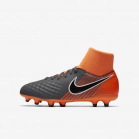 N0387 รองเท้าฟุตบอลเด็ก รองเท้าสตั๊ดเด็ก NIKE Magista ObraX II Academy Dynamic Fit FG Jr. - Dark Grey/Total Orange/White/Black