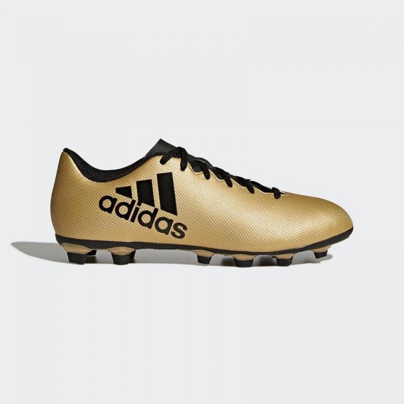 A0040 รองเท้าฟุตบอล รองเท้าสตั๊ด ADIDAS X 17.4 FxG -Gold-Metallic