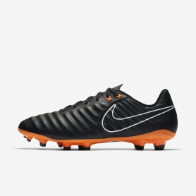 N0390 รองเท้าสตั๊ด รองเท้าฟุตบอล NIKE Tiempo Legend VII Academy FG - Black/Black/White/Total Orange