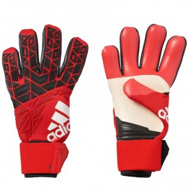 A0410 ถุงมือผู้รักษาประตู ACE TRANS PRO SOCCER GOALKEEPER GLOVES -RED/CORE BLACK/WHITE