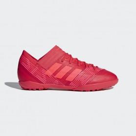 A0418 รองเท้าฟุตบอล 100 ปุ่มเด็ก สนามหญ้าเทียม ADIDAS Nemeziz 17.3 JR. TF -Multicolor/Red/Black