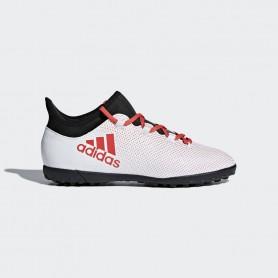 A0419  รองเท้าฟุตบอล 100 ปุ่มเด็ก สนามหญ้าเทียม ADIDAS X 17.3 JR. TF -White / Black