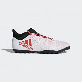 A0420 รองเท้าฟุตบอล 100ปุ่ม สนามหญ้าเทียม ADIDAS X 17.3 TF -White/Real Coral/Core Black