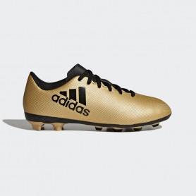 A0042 รองเท้าฟุตบอล รองเท้าสตั๊ดเด็ก ADIDAS X 17.4 JR. FxG -Gold-Metallic
