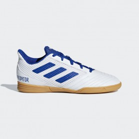 A3304 รองเท้าฟุตซอลเด็ก adidas Predator 19.4 Sala In Jr.-ftwr white / bold blue / ftwr white