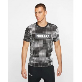 N3446 เสื้อยืดผู้ชาย Nike Dri-FIT F.C.-White/Black
