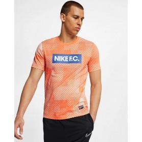 N3447 เสื้อยืดผู้ชาย Nike Dri-FIT F.C.-Guava Ice/Fuel Orange