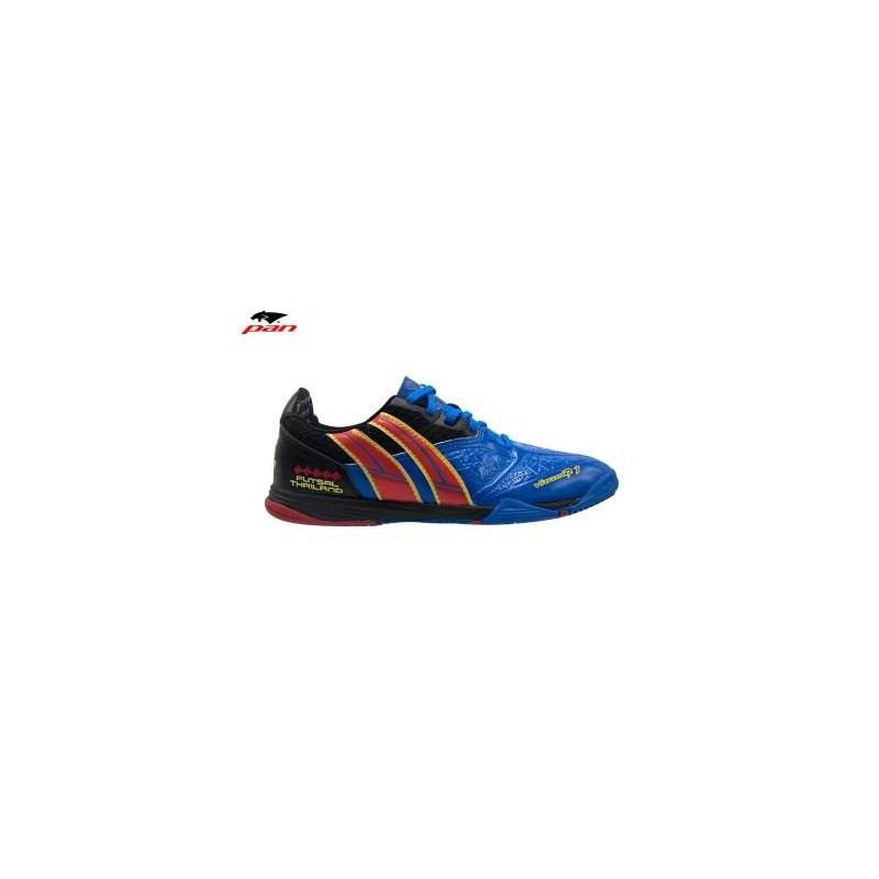 PA0044 รองเท้าฟุตซอล Pan VIGOR 7.1 -Blue/Red (ตัวทอป)