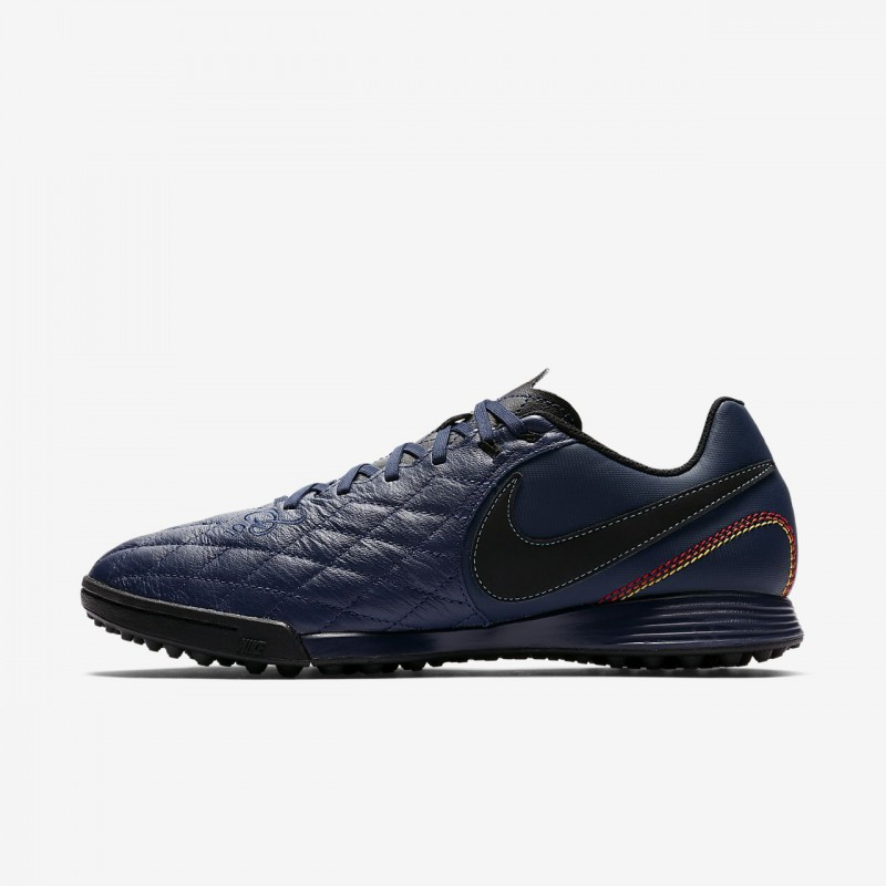 N0183 รองเท้าฟุตบอล 100ปุ่ม รองเท้าสนามหญ้าเทียม Nike TiempoX Ligera IV 10R TF -Midnight Navy