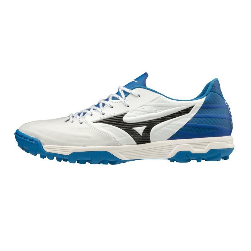 M3582 รองเท้าฟุตบอล 100ปุ่ม สนามหญ้าเทียม  MIZUNO -White/Blue