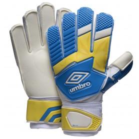 U0459 ถุงมือผู้รักษาประตู UMBRO NEO PRECISION GLOVE - สีขาว/เหลือง/ฟ้า