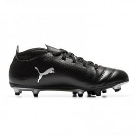 P0464 รองเท้าฟุตบอลเด็ก รองเท้าสตั๊ดเด็ก Puma PUMA ONE 18.4 FG -Black/Silver
